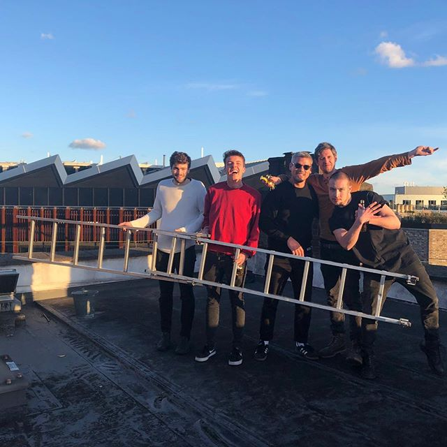 Productive meeting with @viceuk think we climbed the the ladder, you could say the sky is the limit!  #supercans #hawleyarms #funsize #rooftop #camden #camdenmarket #vice #oldbluelastbeer
