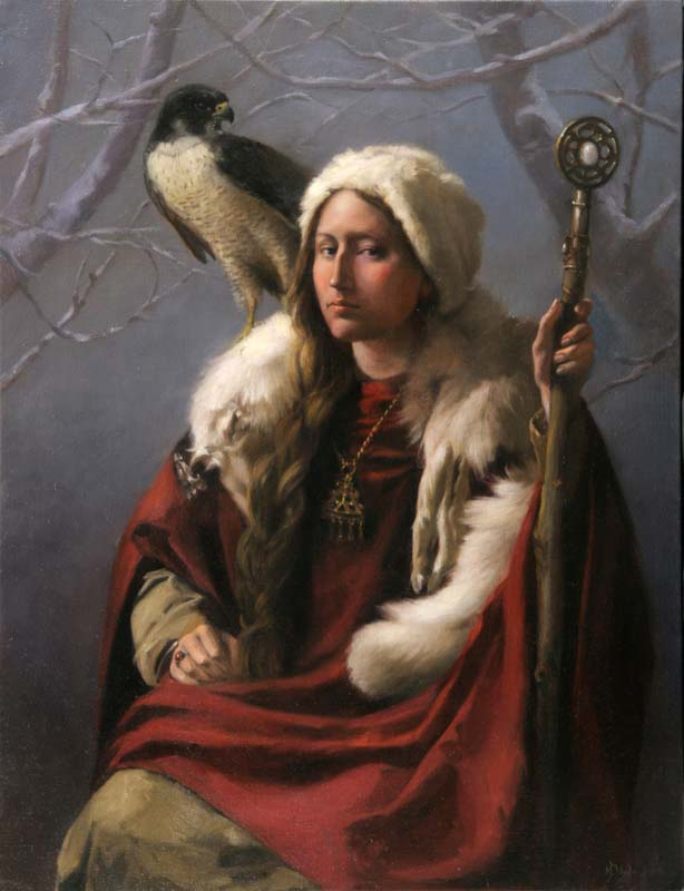 The Huntress   Oil on linen cm. 85 by 65 2005   SOLD