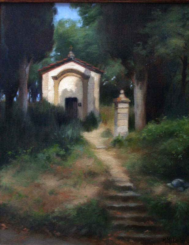 La Cappella nel Bosco  oil on linen cm. 45 x 35 2007  SOLD
