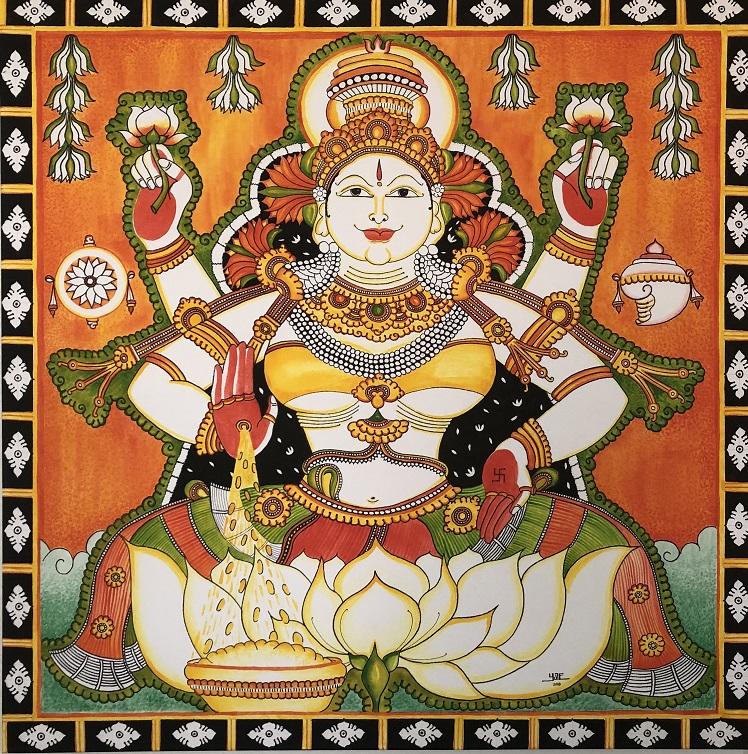 Mahalakshmi - Kerala Mural