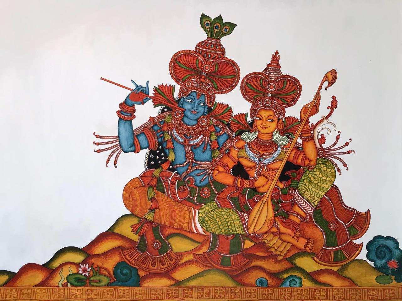 Kerala mural1