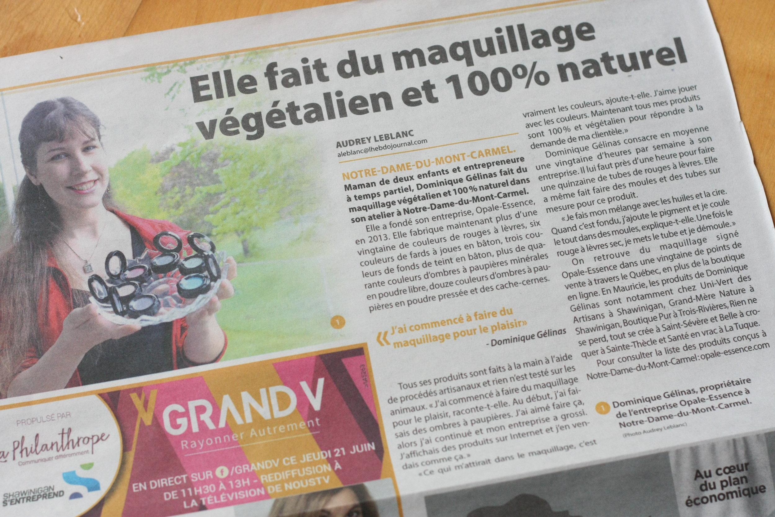 Reportage publié dans L'Hebdo journal, le 20 juin 2018