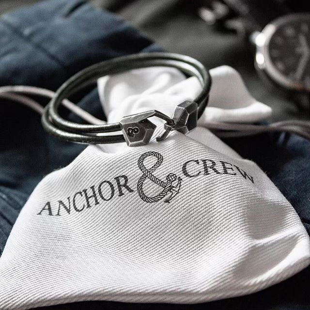 Anchor&Crew Men's bracelets are designed and handmade in the UK. Inspired by exploration and travel, maintaining a distinctive British minimalist style.  These bracelets are made using Round-shaped smooth leather and 0.925 sterling silver with an ethical and traceable supply chain.  Only until Father's Day our selection is 20% off with the code ANCHOR20. Get yours now!  #londonfashion #mensjewelry #leatherbracelet #handmade #madeinuk #ethicalfashion #ethicalclothing #londonstyle #mensfashion #menslook #menslookbook #fashionaccessories