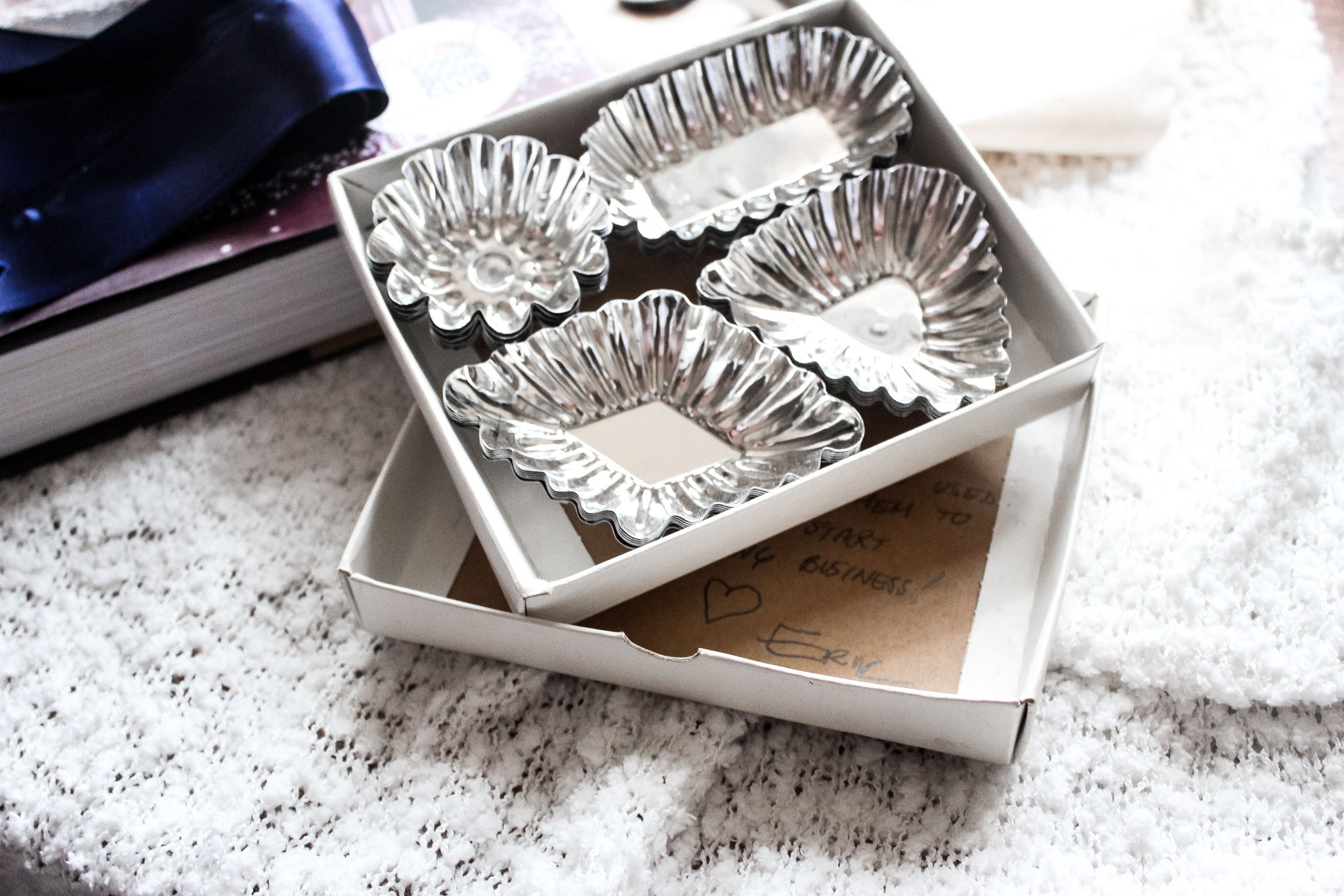These tartlet pans were used by my friend Erik's great grandmother in her bakery in New York!