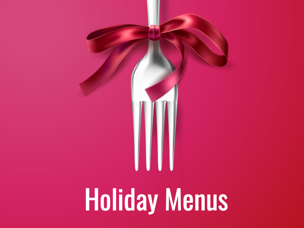 Holiday Menus -