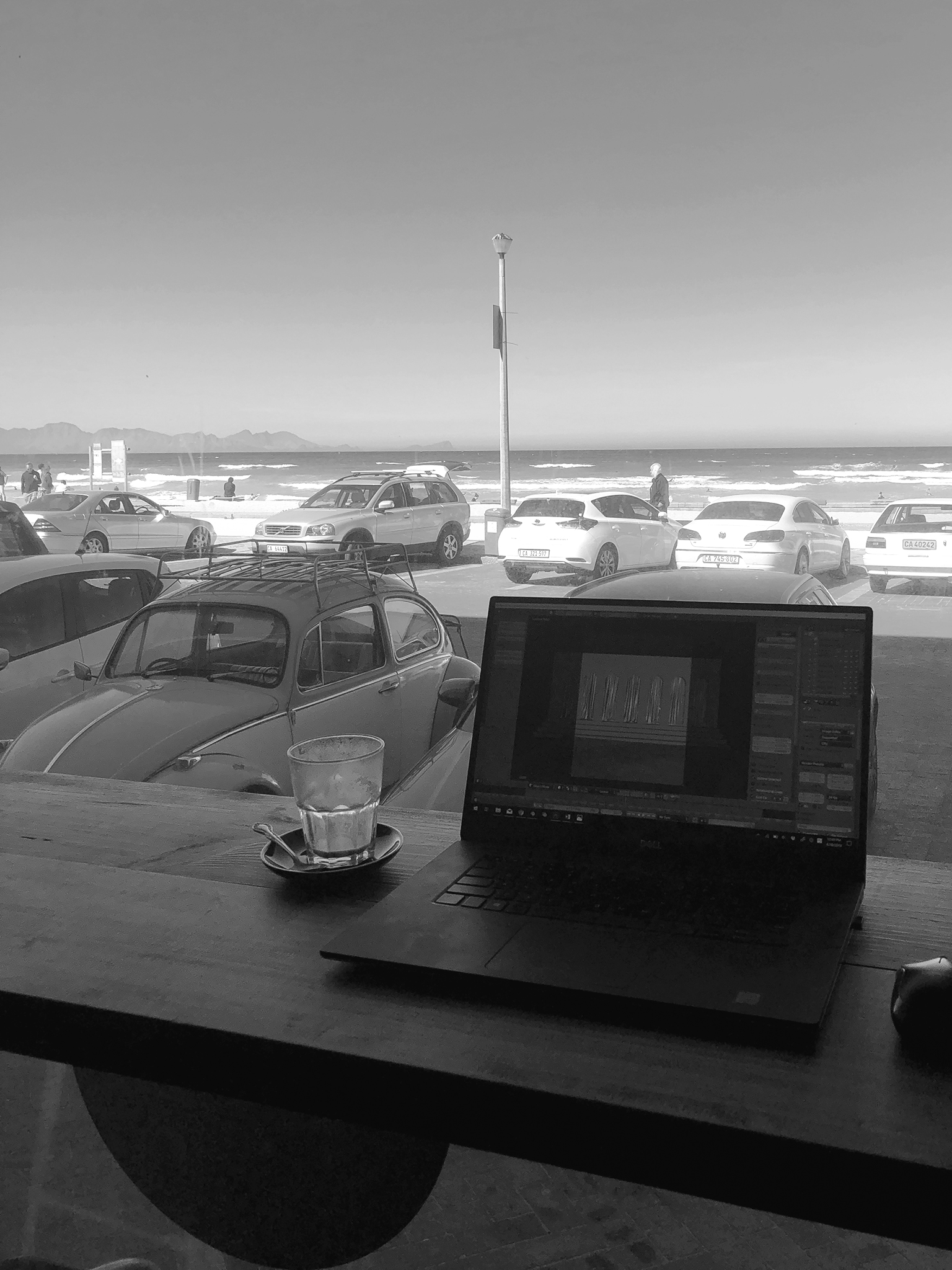 Rebecca's workplace with an unbeatable view.