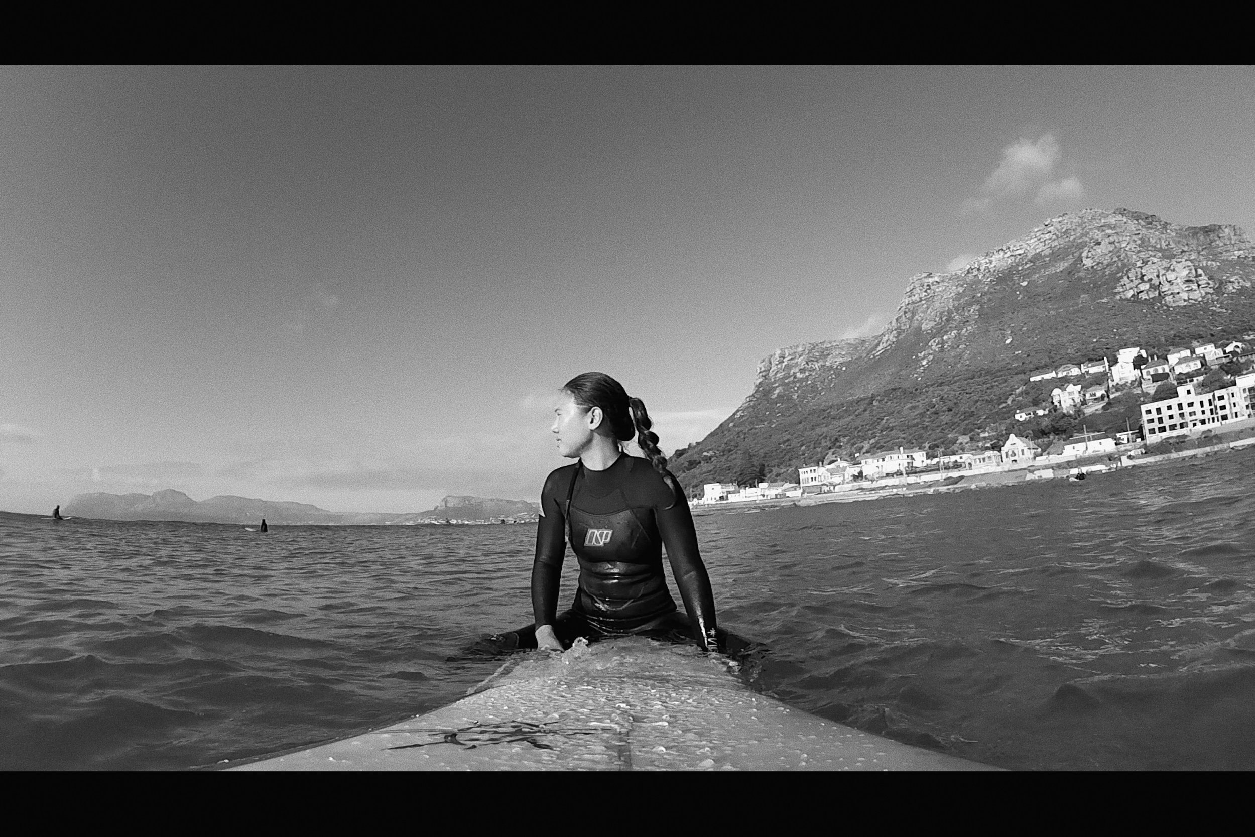 Rebecca surfing