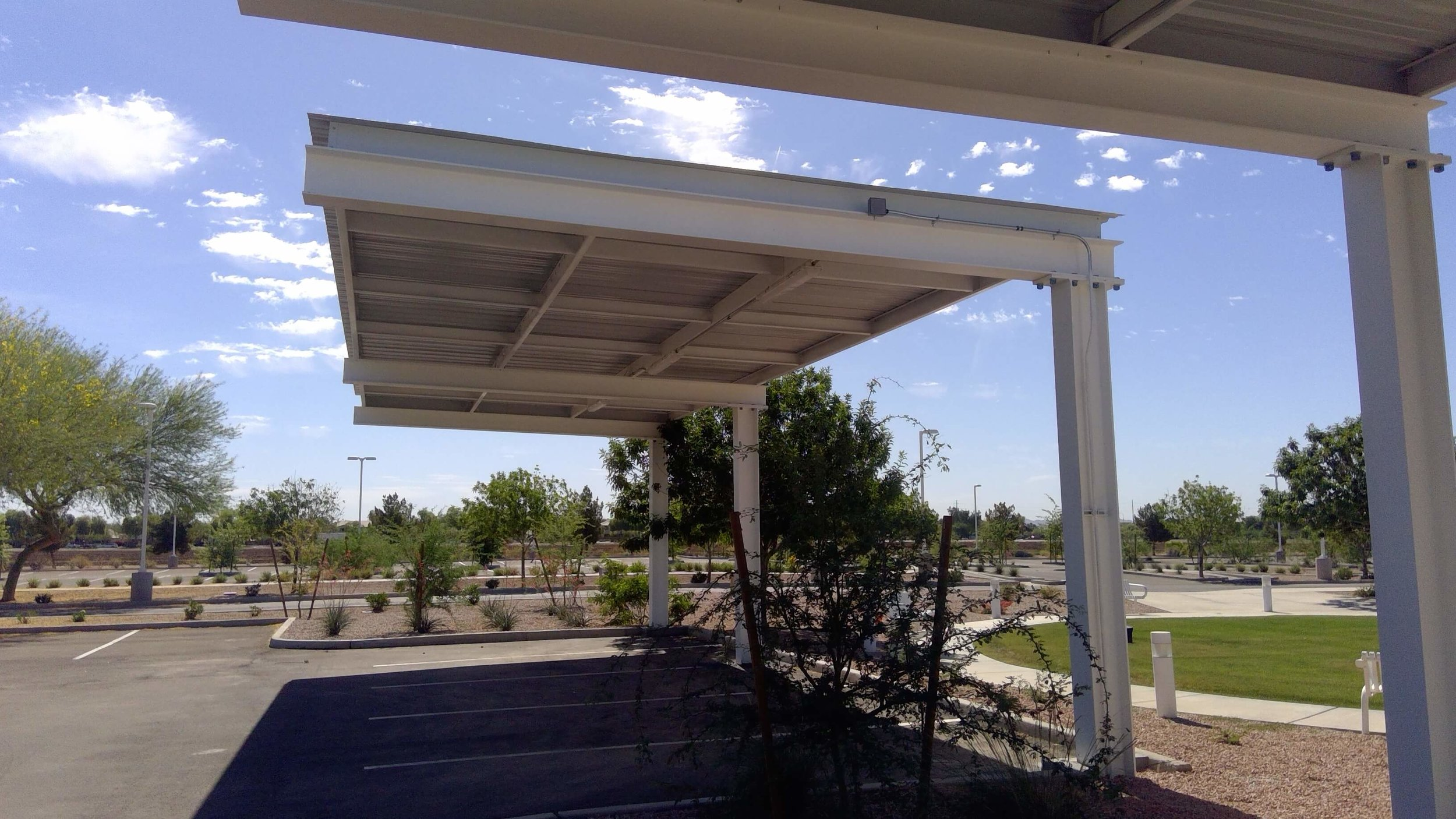 I Beam Covered Parking Canopy