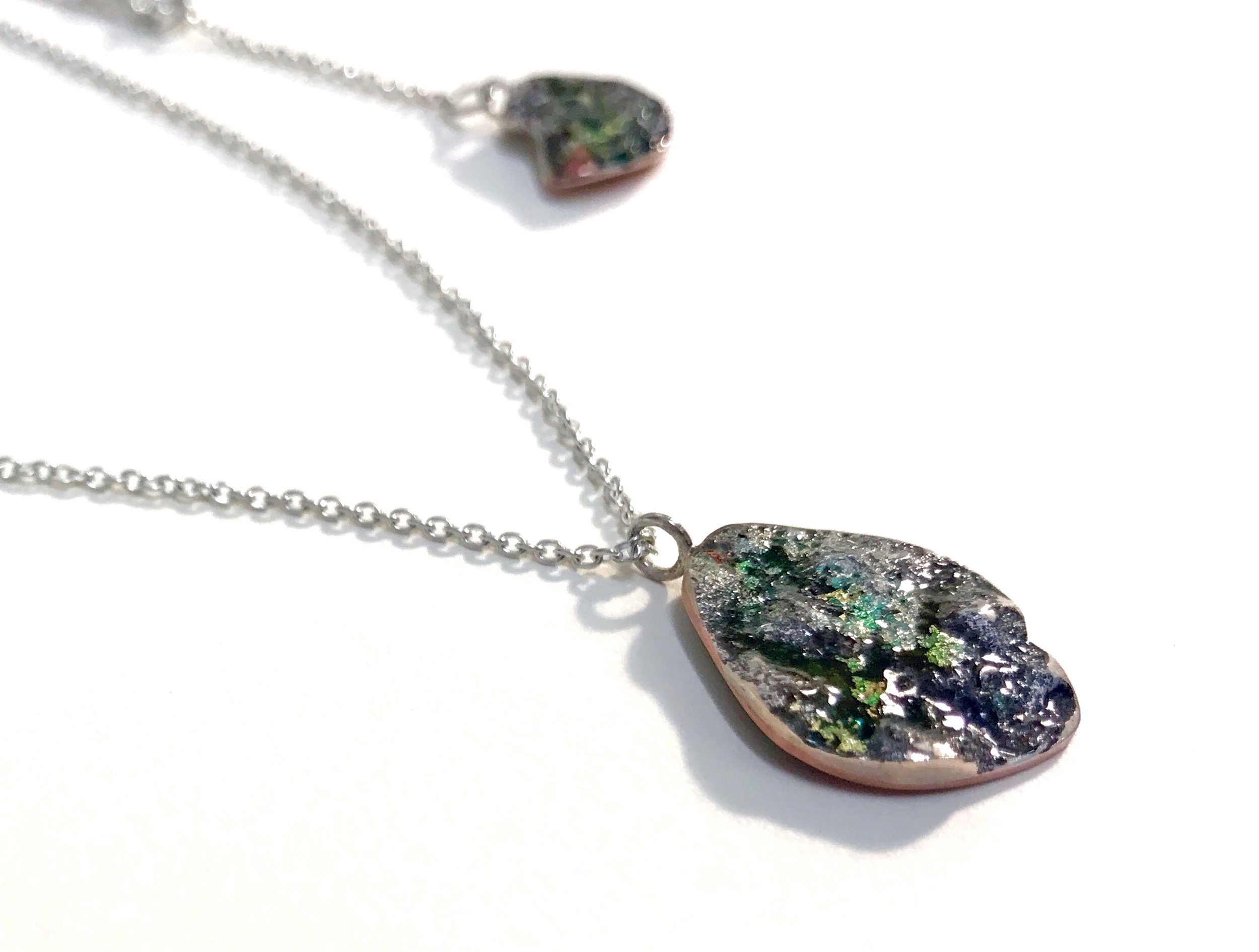 Necklace (2019): Silver, Copper, Gold Leaf, Enamel