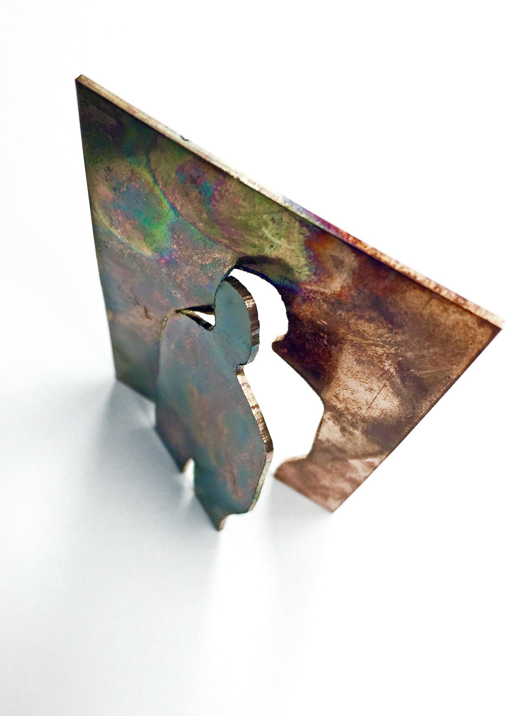 Sculpture (2016): Copper, Enamel