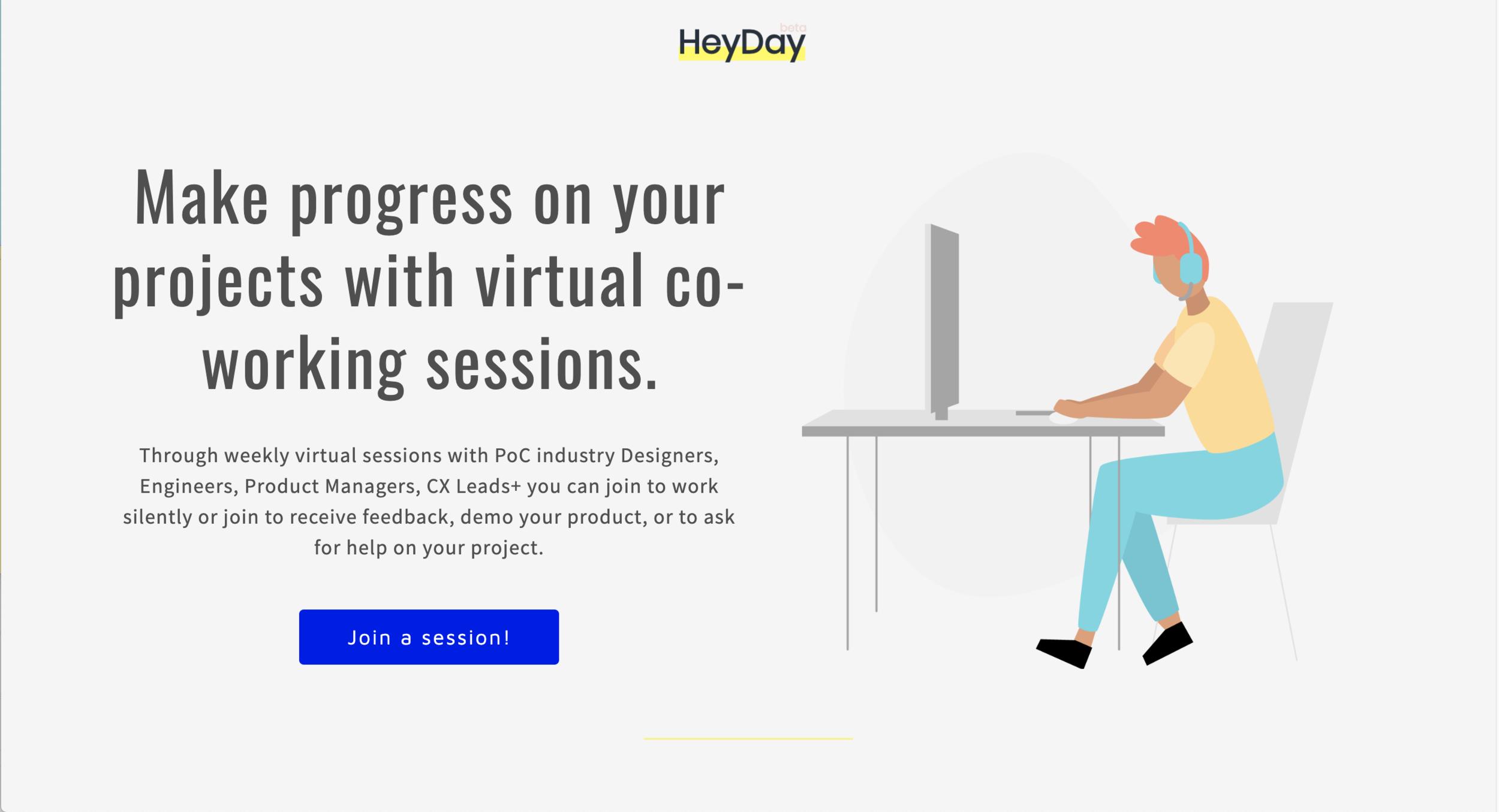 HeyDay PoC Co-working App - In Progress