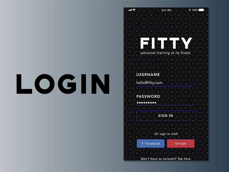 FITTY, Trainer Fitness App - Case Study & UX Designs