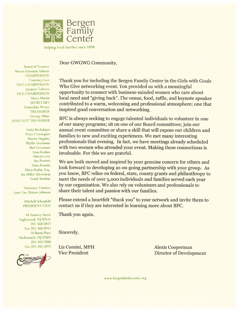 BFC THANK YOU LETTER