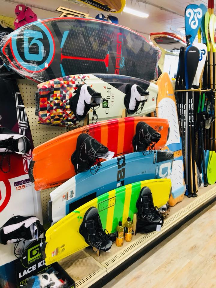 We sell and rent Knee Boards, Wake Boards, Stand-up Paddle Boards, Water Skis    CONTACT US