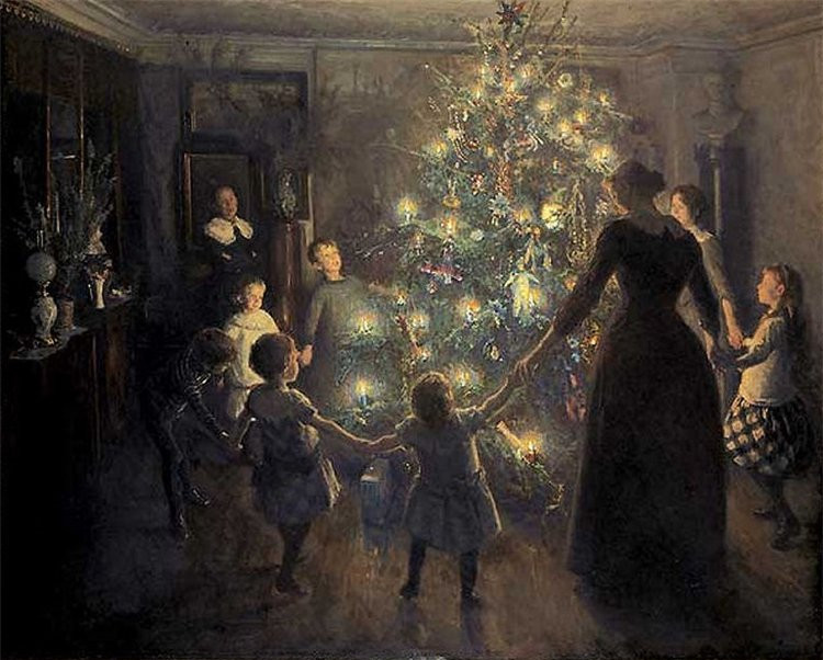 Glade jul (Happy Yule) by Viggo Johansen (1891)