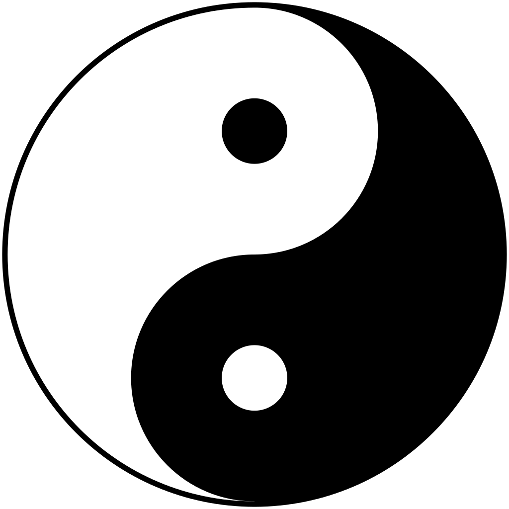 The Chinese Taoist symbol of Ying and Yang represents balance rather than duality. Male and female, light and dark, active and passive, motion and stillness co-exist in harmony because they are all manifestations of a unifying force throughout all nature.