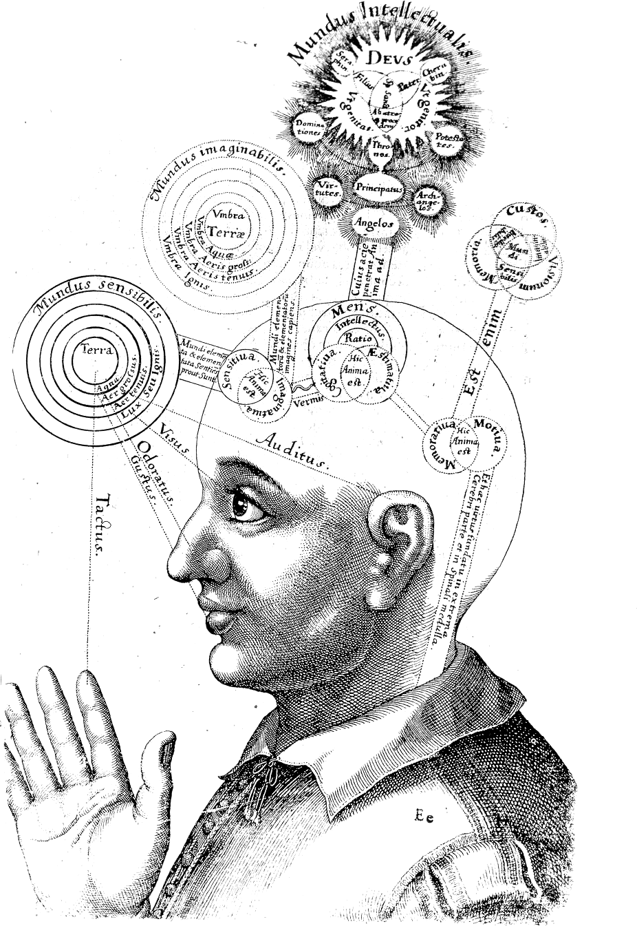 Representation of consciousness, circa 1619