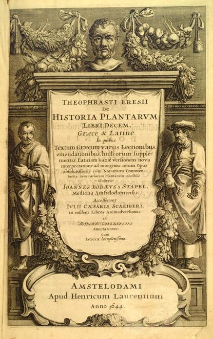 De Historia Plantarium  by Theophrastus