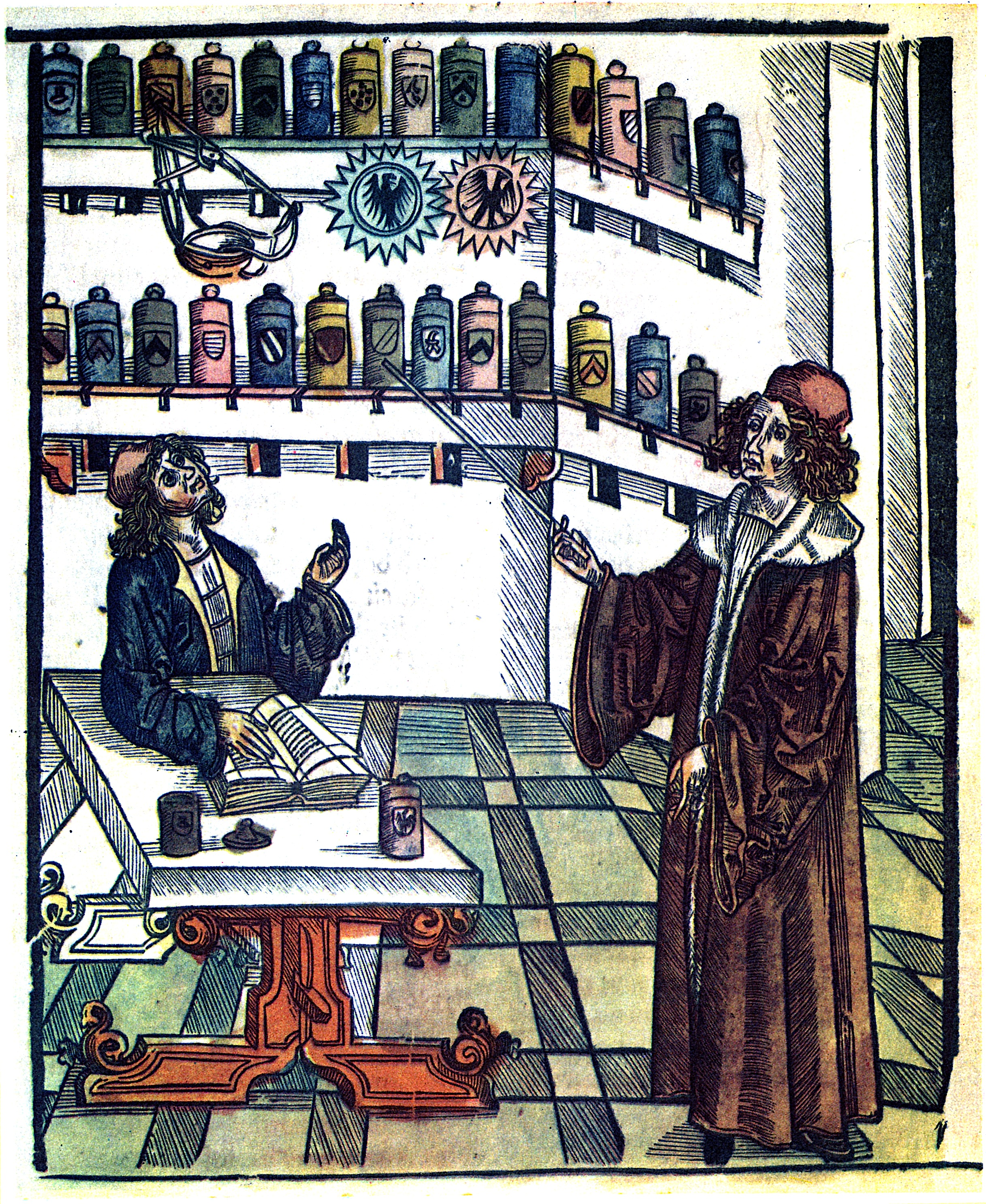 Doctor and pharmacist, illustration (1505)
