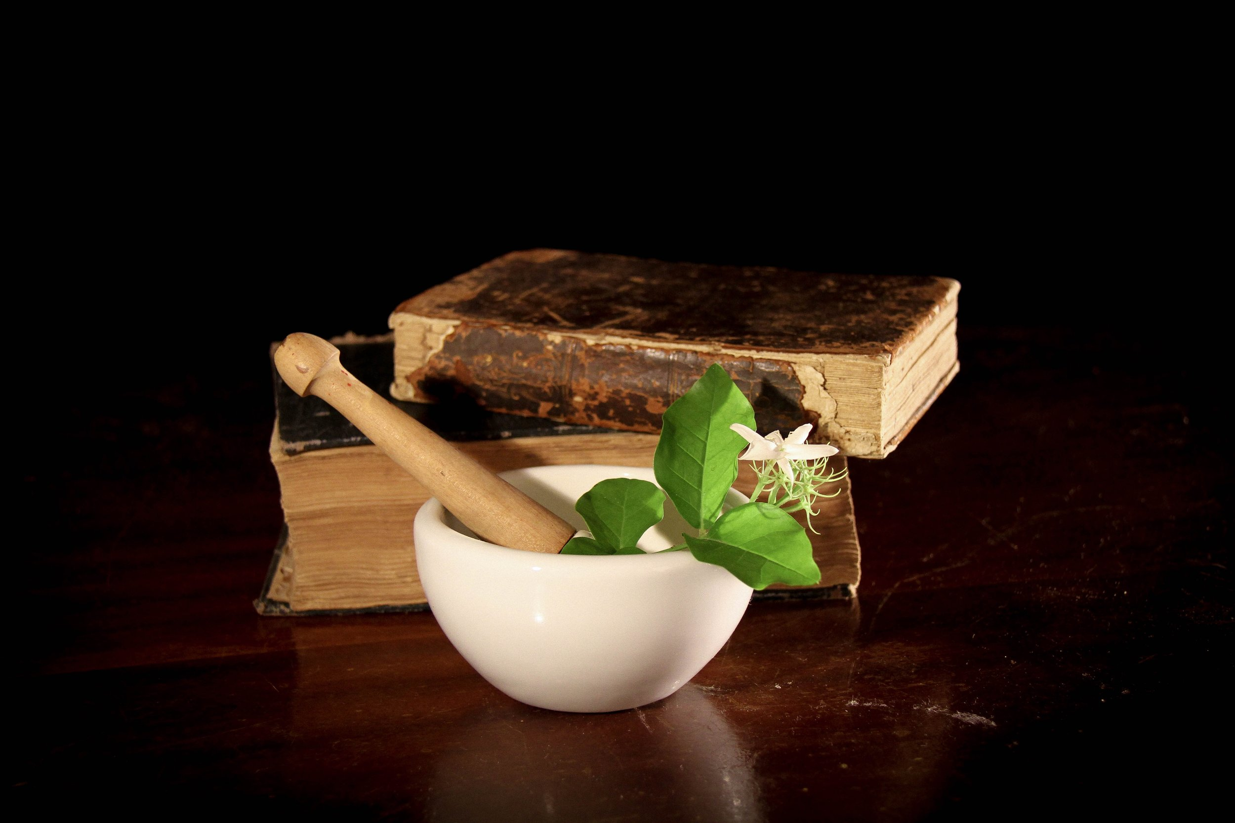 Mortar and pestle used by compounding pharmacists
