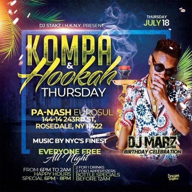 Kompa and Hookah Thursday - DJ Marz Birthday - July 18.jpg