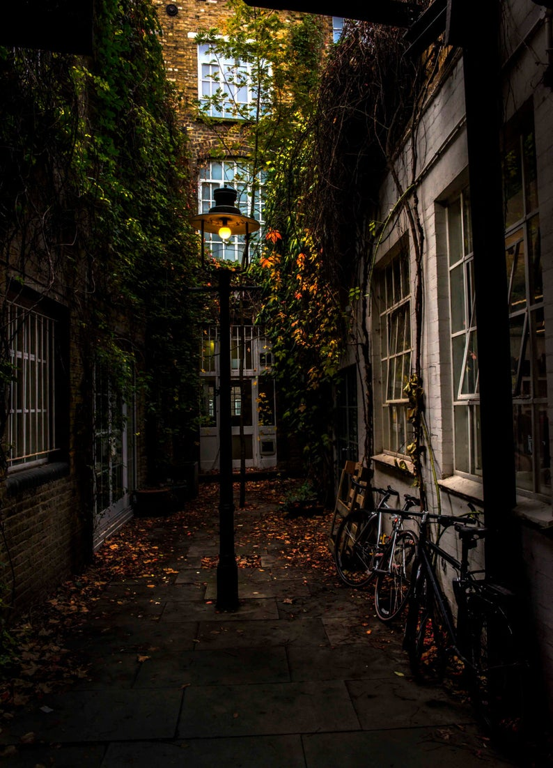 London Alleyway at Playhouse Court by SALTEDPRINT via Etsy