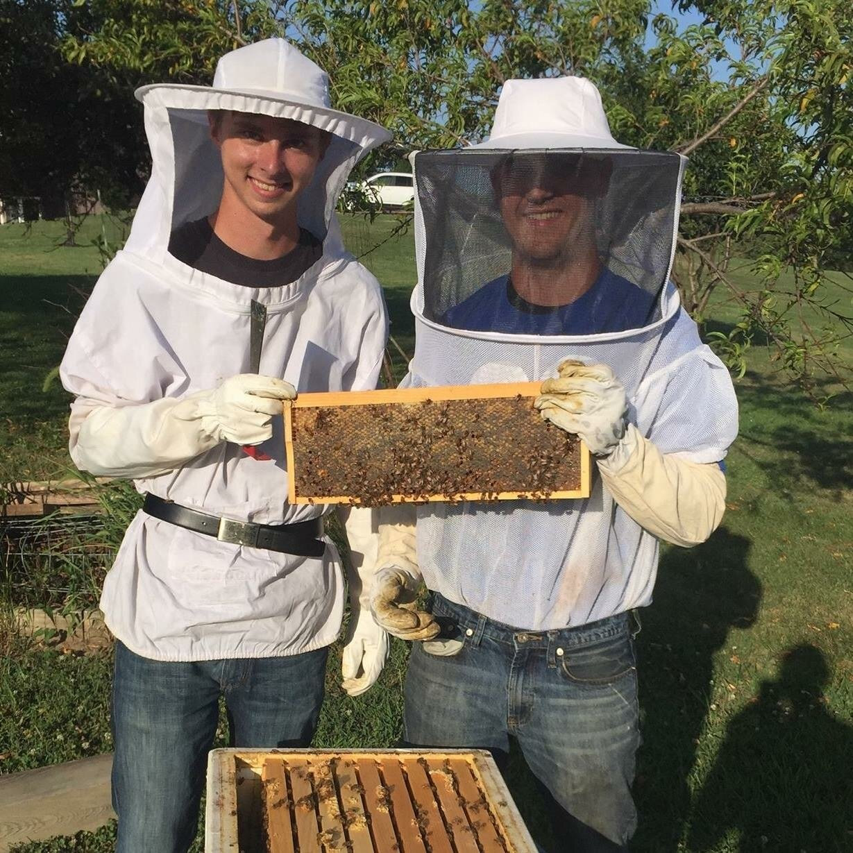 MD's Bees   Michael and Dylan are the beekeepers behind MD's Bees.  We wanted to raise the bees naturally and do our part to help the local pollinator population, Our honey is raw out of the hive, and poured through a large sieve to allow the pollen to remain in the jar. We also have comb honey with chunks of honey comb straight from the hive!