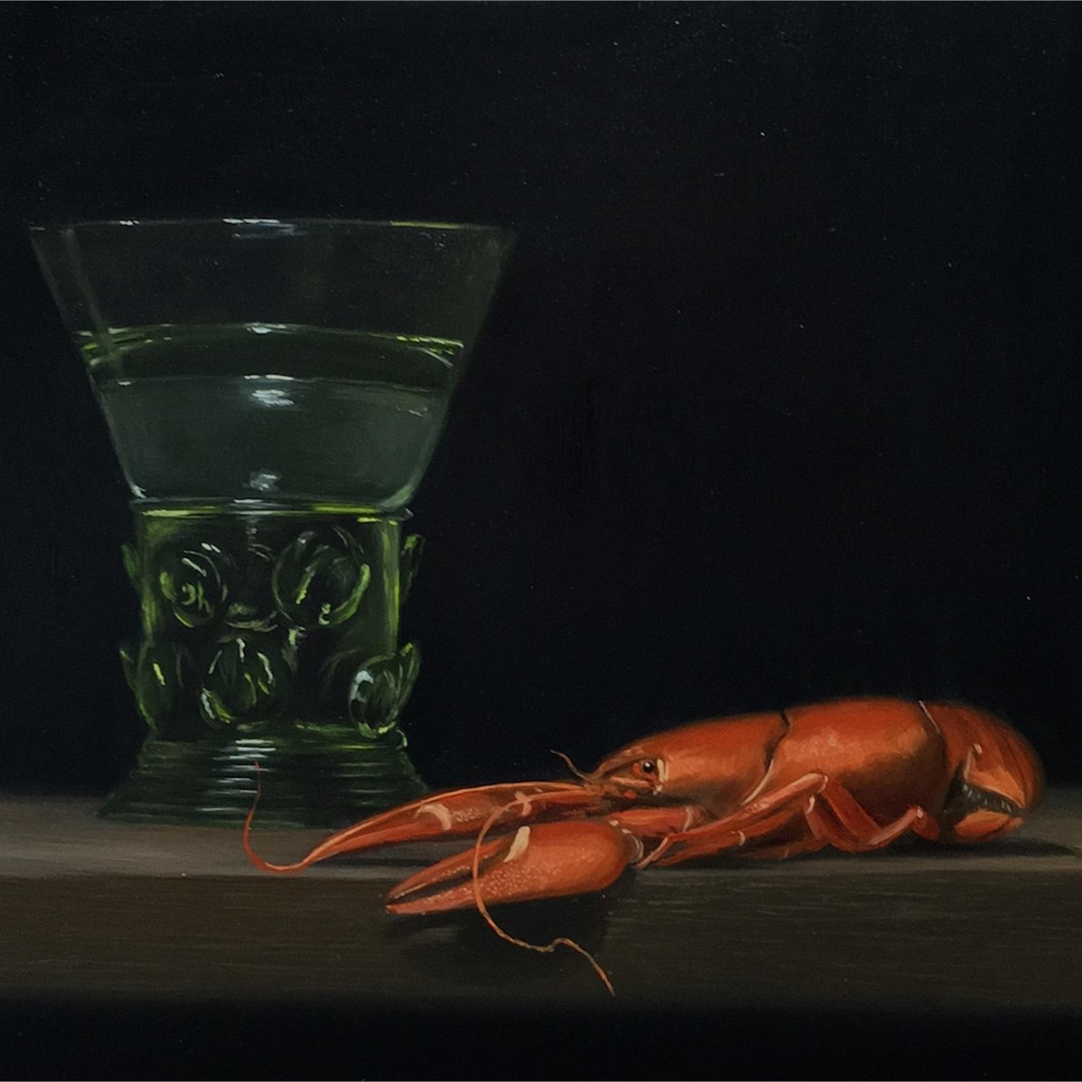 Crayfish and Berkemeyer Glass -