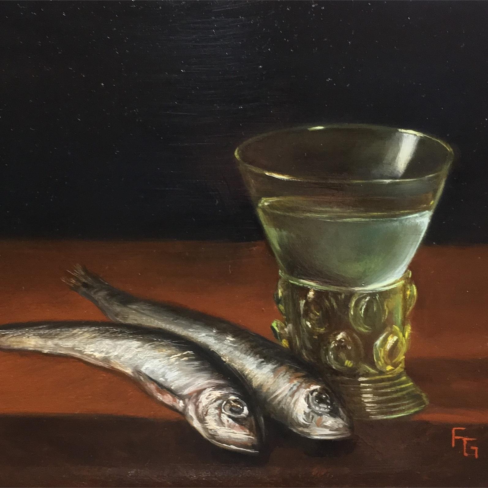 Sardines and Berkemeyer Glass -