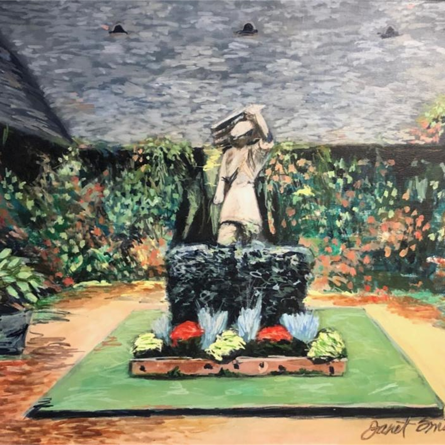 Janet SmithJustine's Garden, oil on canvas -