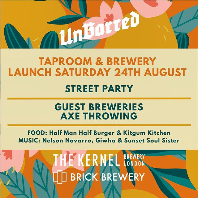This Saturday the 24th we have the honour of being part of the @unbarredbrewery #launch weekender! We will be #axethrowing with our #walkinandsling sessions for the #streetparty on Saturday with DJ's spinning some tunes, awesome #streetfood and ofcourse some #steelslingin action!  We'll be there from 12pm-11pm and the sun is going to be beaming! Remember #brightonandhove : #slingsinkrepeat  @thekernelbrewery @brickbreweryse15 @theherbkitchen @halfmanhalfburger @kitgumkitchen @tribeaxethrowing @nelsonmakesmusic @sunsetsoulsister @giwha
