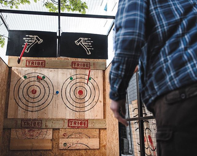 Only 3 more days till our #launchparty at the @northlainepub !! Come join us for our walk in and sling with laines co collab big chopper beer with £3.50 pints for any Laines beer!  Book a tournament with us this weekend through our website: www.Tribeaxethrowing.co.uk  Our slots are getting booked up fast so get your #tribe together or if your a lone wolf come and join a Tribe, learn how to sling bullseyes and become the victor! Alternatively come down and we will have our walk in and sling if we have gaps between tournaments!  #slingsinkrepeat #axethrowing