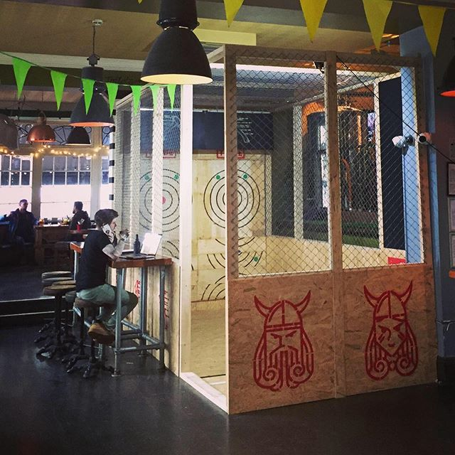 Right #brightonandhove were ready for you! In Just a couple of hours we are launching our #axethrowing events at the @northlainepub starting from 6pm-11pm tonight!  Come and say hello, throw some axes and drink some delicious #bigchopperbeer from #lainesbrewco and £3.50 for any Laines beer!  We'll be running our #walkinandsling pay as you go Axe Throwing sessions with a chance to win prizes! We can't wait for our residency to kickstart tonight.  We'll see you there, and remember:  SLING.SINK.REPEAT.