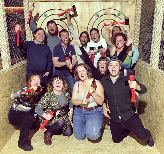 Amazing first tournament session yesterday for Stuart birthday with his TRIBE!  To book in your tournament session go to our website: www.tribeaxethrowing.co.uk  #axethrowing #tribe #tribeaxethrowing @northlainepub