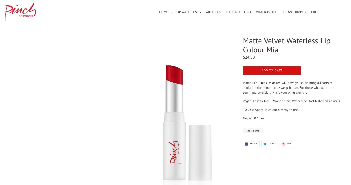 Website copy/Product description/Packaging copy
