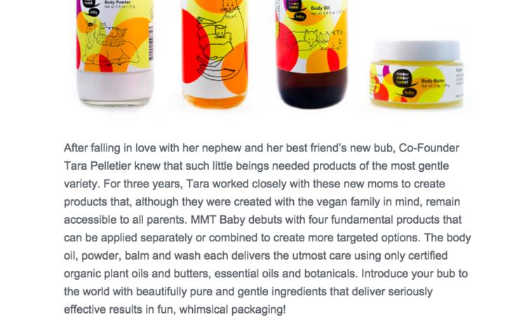 Website copy/Brand story