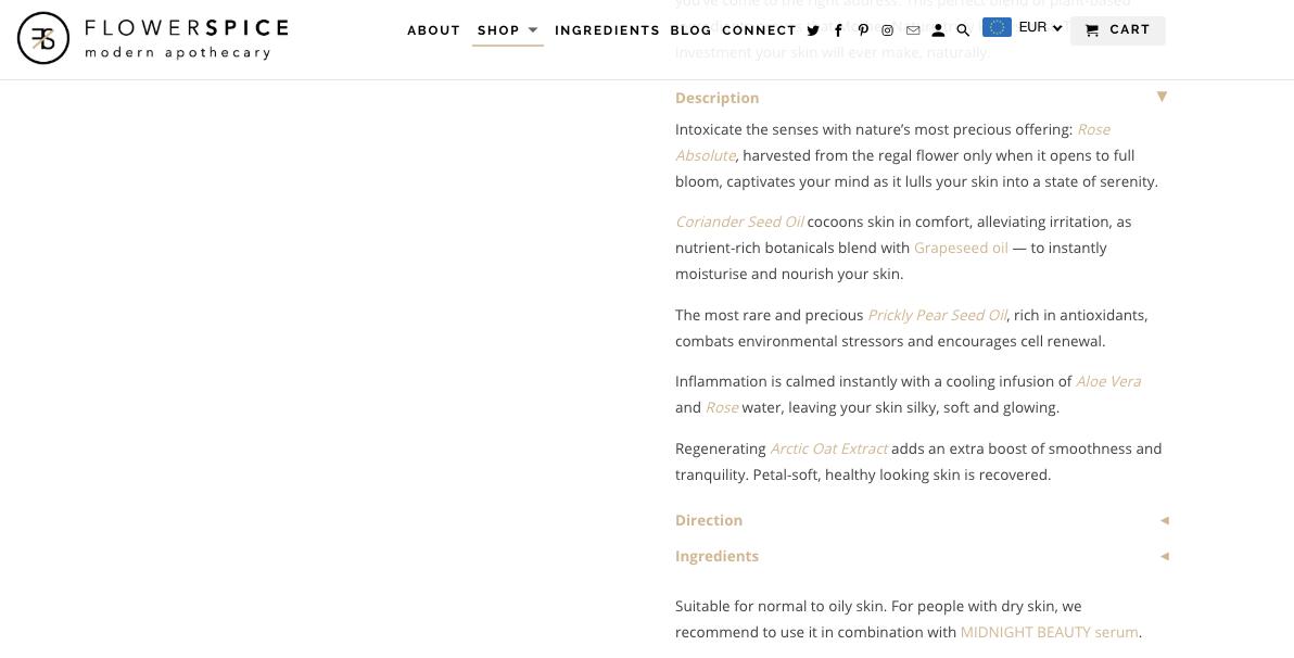Website copy/Product description