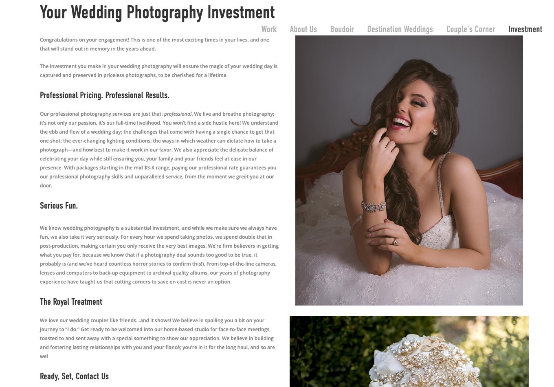 Website copy/Brand voice/Product description/Marketing collateral