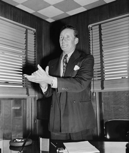 Walter Johnson, campaigning, 1938 (Library of Congress)