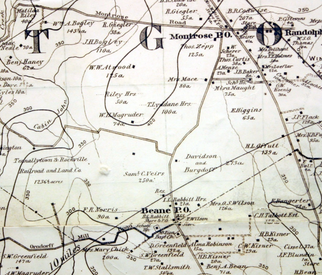 Map of Luxmanor area, 1894