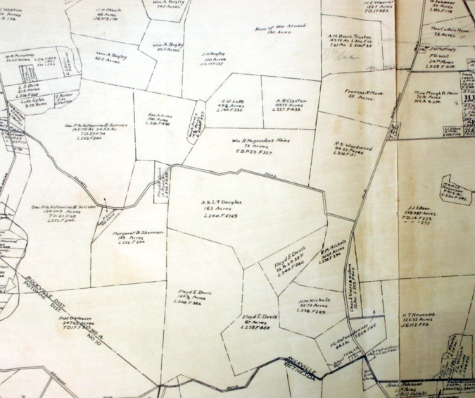 Map of Luxmanor area, 1916