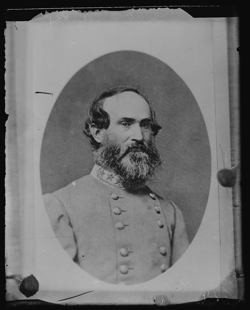 Confederate General Jubal Early - Head-and-shoulders portrait, facing front [Between 1860 and 1870, photographed later] (Library of Congress)