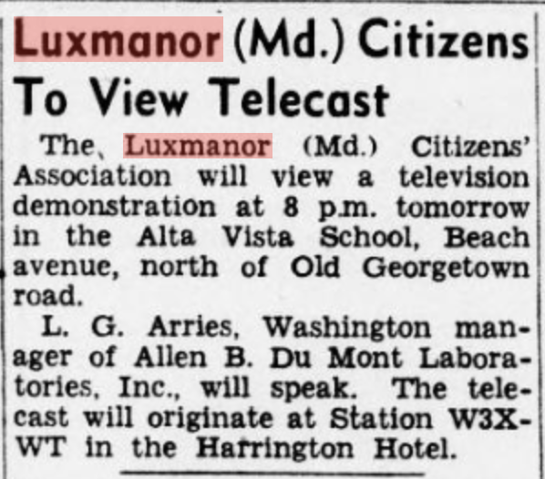 TV comes to Luxmanor, The Evening Star. [volume], May 08, 1946, Image 22, LOC.png
