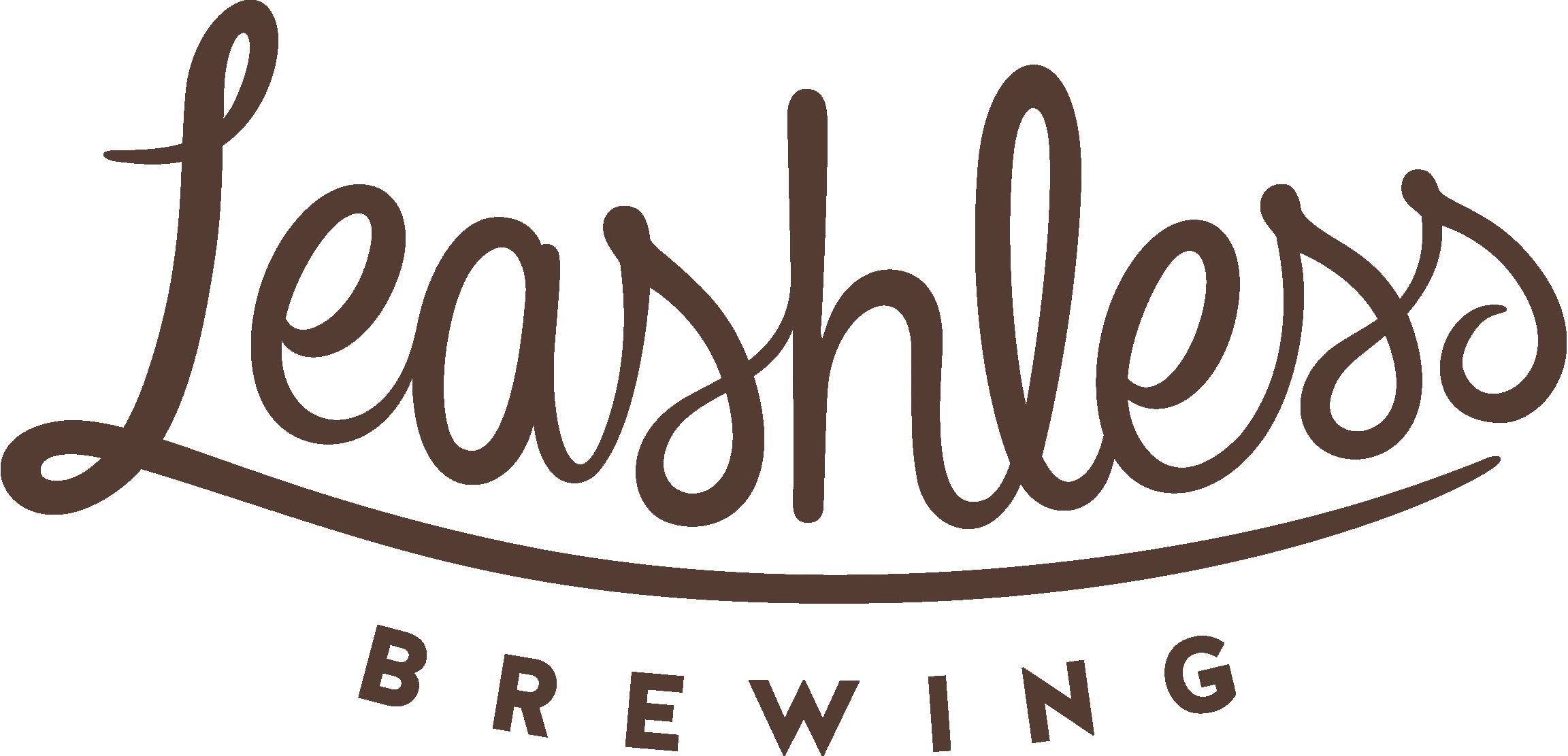 Leashless Brewing - script logo in color
