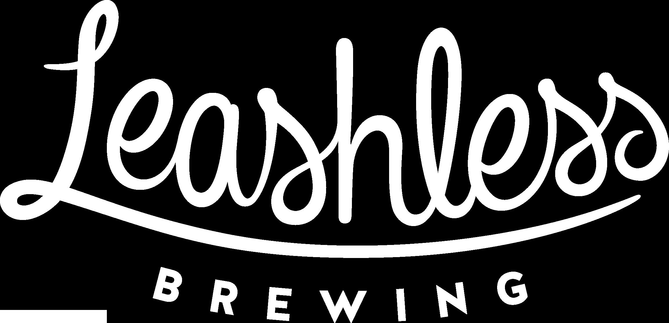 Leashless Brewing - script logo in white