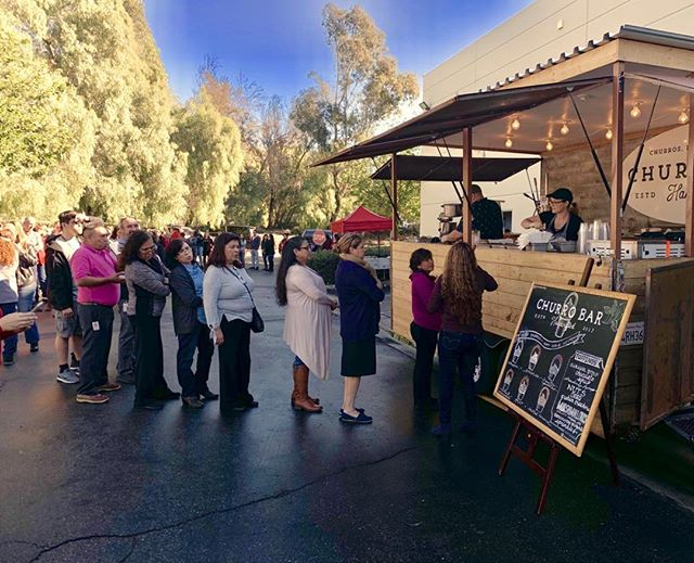 There's no line that Churro Bar can't handle! We love serving a crowd. The more, the merrier! Hire us for your next event today 😉. ChurroBarCatering.Com  #laweddingplanner #ocweddings #ocweddingplanner #losangelesfood #ocfoodie #corporateevents