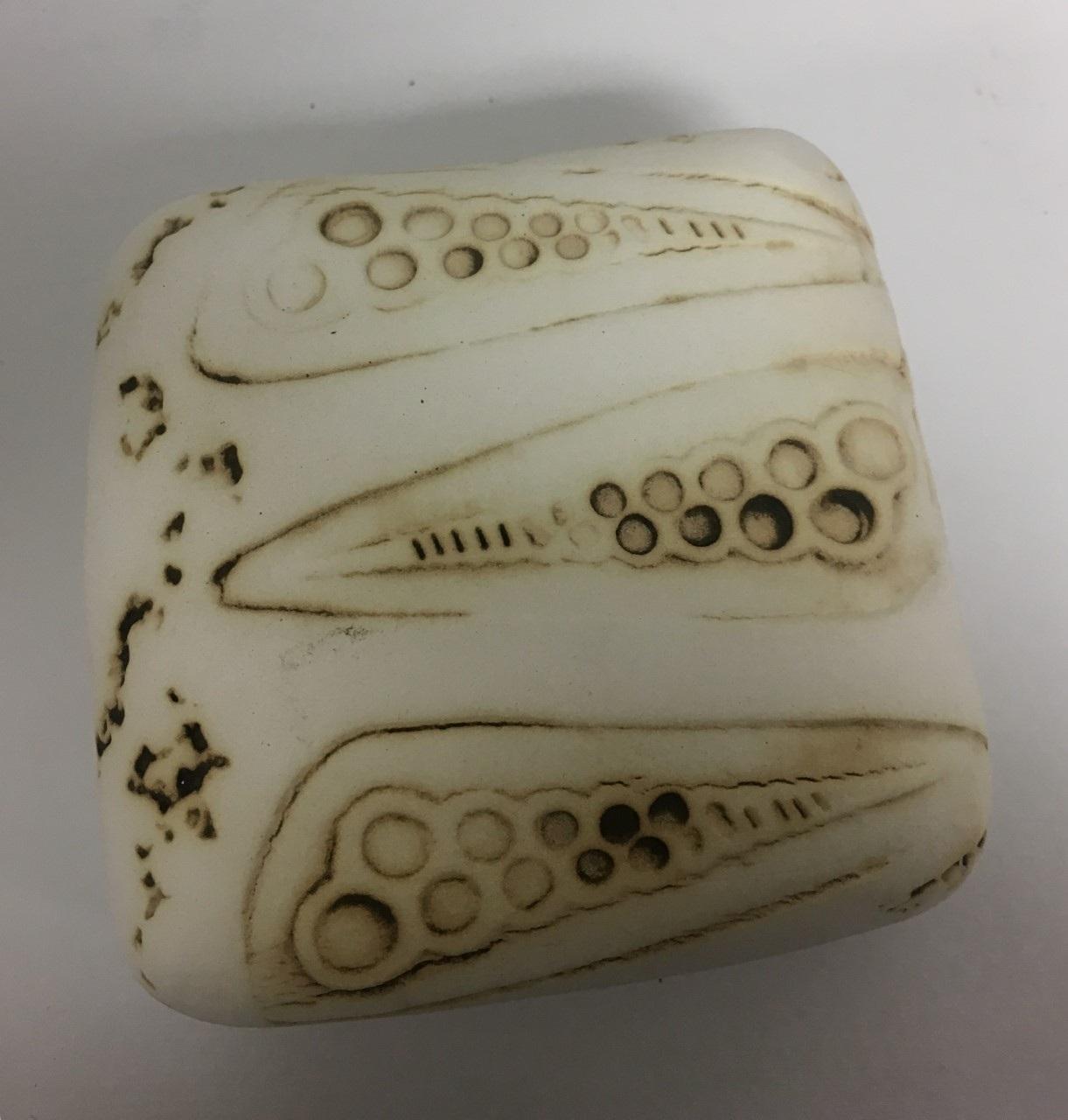 "Wall Box 2, 4""x 4"", Clay Sculpture, $50"