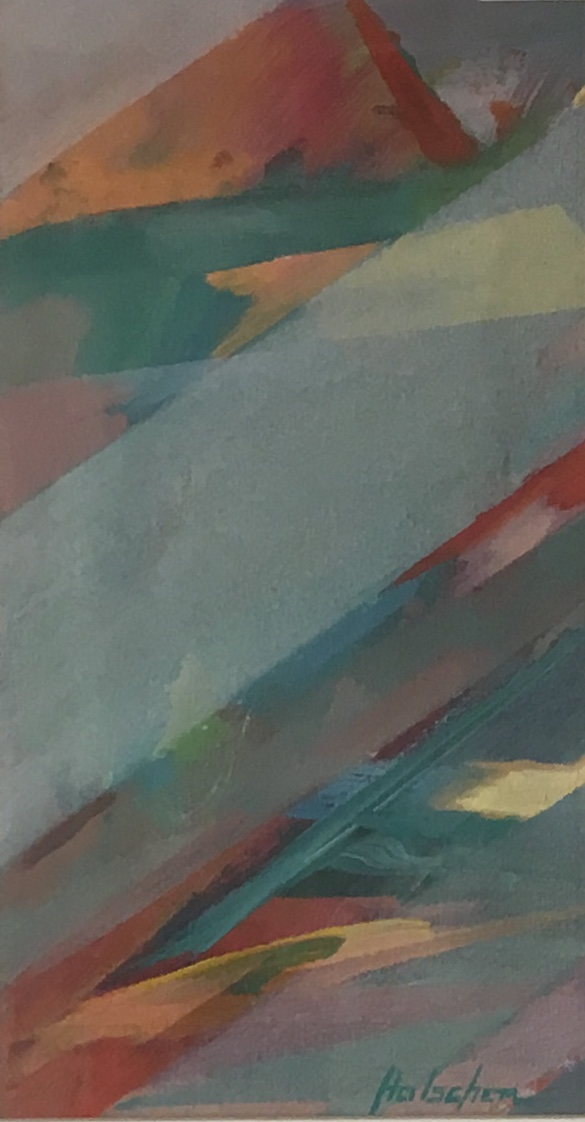 "Acrylic Abstract, 16"" x 10"", Acrylic (Original), $125"