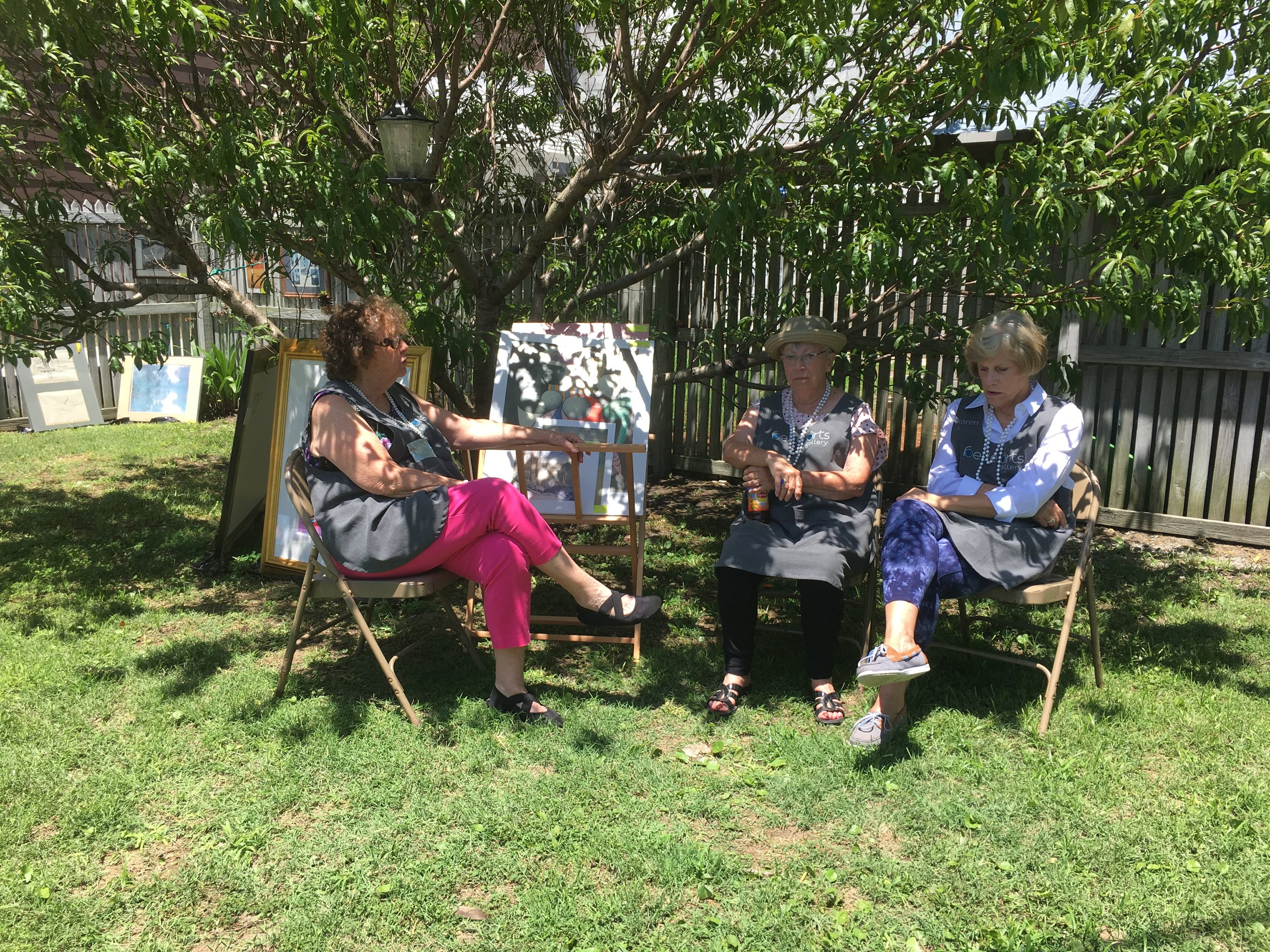 Father's Day Upcycle Event  Saturday, July 15, 2019  Misa (belle), Jean (belle), and Karen (belle)
