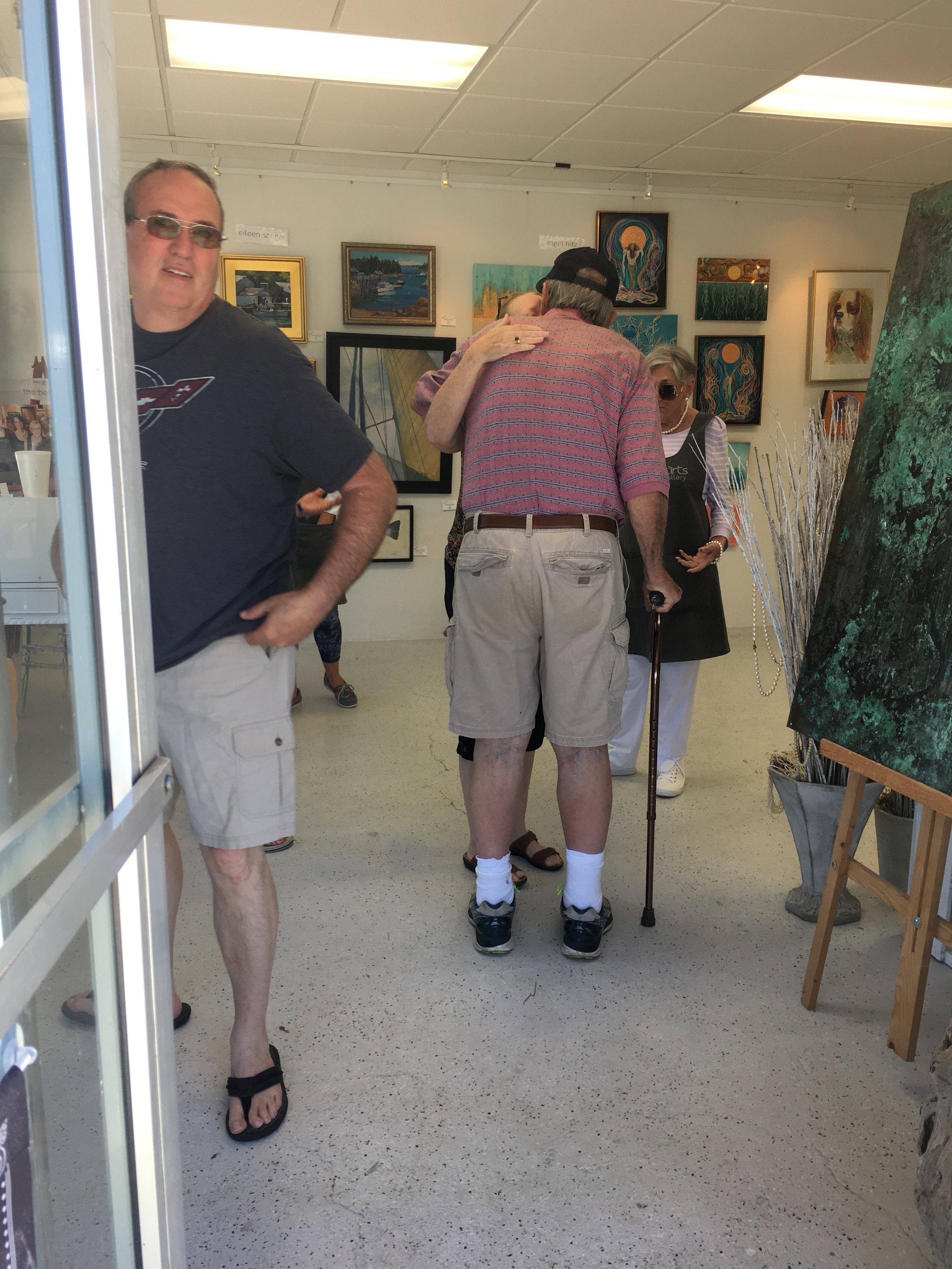 Father's Day Upcycle Event  Saturday, July 15, 2019  Visitors of the gallery inside during the event!